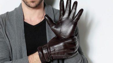 دستکش چرم مردانه شیک